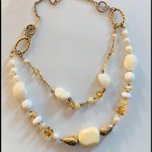 Lia Sophia earthy stone necklace